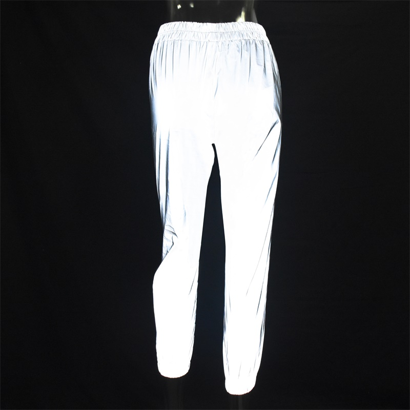 Flash Reflective Jogger Pants Autumn Winter Casual Solid Street Wear Trousers 57