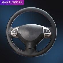 цена на Car Braid On The Steering Wheel Cover for Mitsubishi Lancer X 10 2007-2015 Outlander 2006-2013 ASX 2010-2013 Auto Wheel Cover