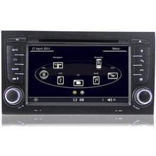 7 inch Capacitive Touchscreen HD 1080P Car DVD GPS Player For Audi A4 (20002-2007) SEAT EXEO (09-12) Can Bus 3G WiFi RDS USB