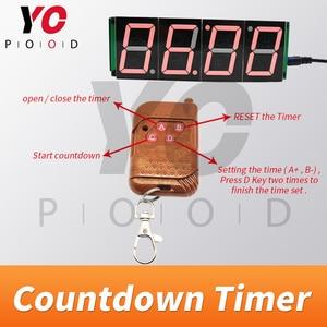 Image 3 - אלחוטי ספירה לאחור טיימר חדר בריחה משחק אבזרי ארבע תצוגה דיגיטלית משתמשים יכול להגדיר זמן YOPOOD אמיתי חיים Takagism משחק ספק