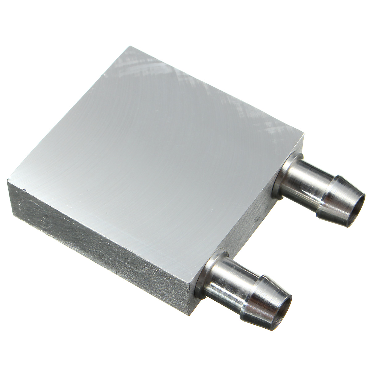 Primary Aluminum Water Cooling Block 40*40mm for Liquid Water Cooler Heat Sink System Silver Use For PC Laptop CPU