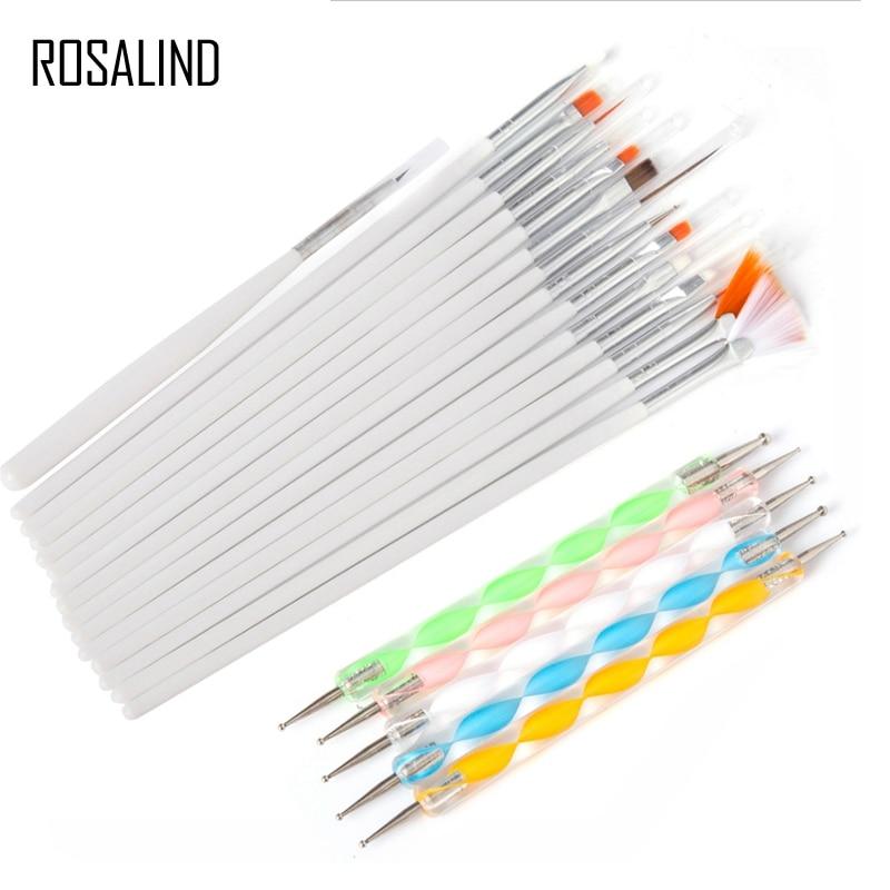 Rosalind 20 Adettakım Tırnak Jeli Fırçalar Tasarım Seti Süsleyen