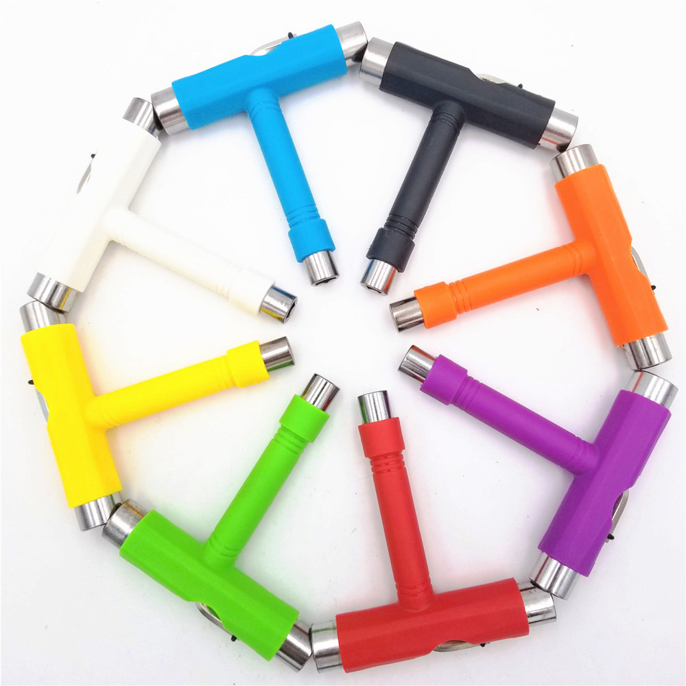 Image 5 - Semiautomatic Skateboard Tools T Shape Multifunctional Scooter Longboard T Tool skate Installation Wrench Adjusting Tool-in Skate Board from Sports & Entertainment