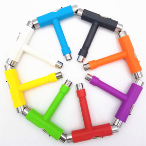 Image 5 - Semiautomatic Skateboard Tools T Shape Multifunctional Scooter Longboard T Tool skate Installation Wrench Adjusting Tool