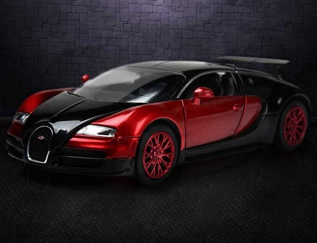1:32 Scale Bugatti Veyron Coches Jugetes Diecast Car Model Autos A Escala  Pull Back