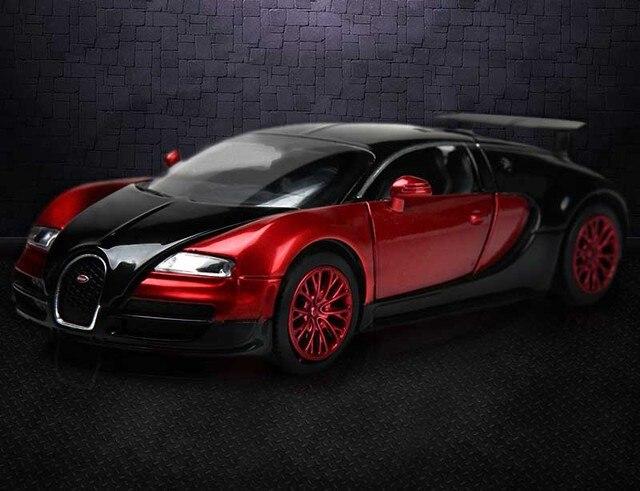 1 32 skala bugatti veyron coches jugetes diecast auto. Black Bedroom Furniture Sets. Home Design Ideas