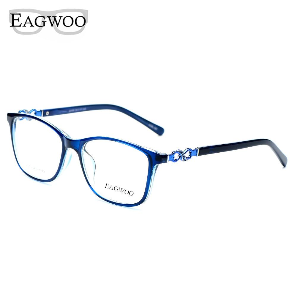 Asetaatti TR90 naisten naisten silmälasit, koko kehys kristalli, - Vaatetustarvikkeet - Valokuva 3