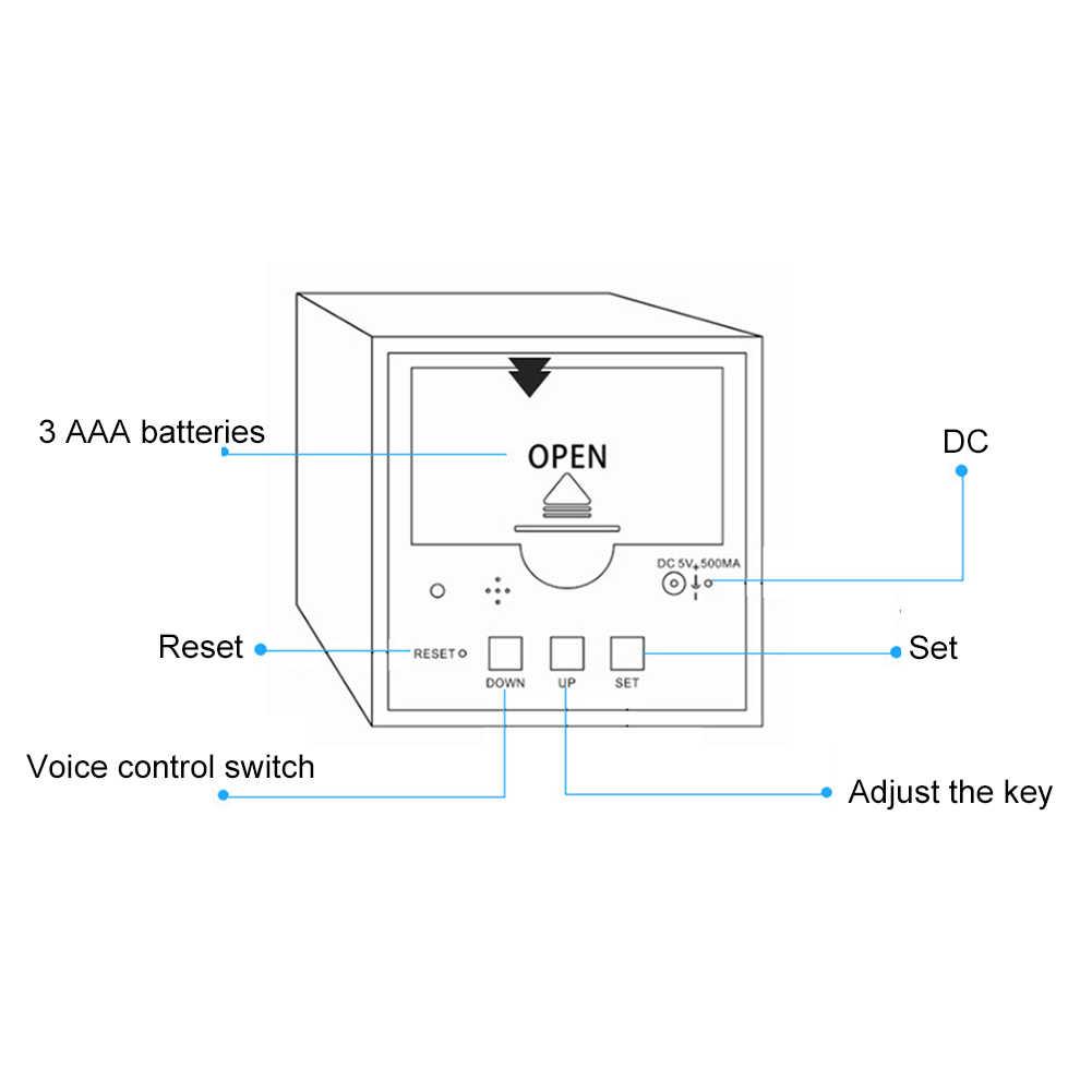 Digital Clock Jam Dinding Digital Kayu USB LED Malam Lampu Alarm Clock Thermometer Tampilan Jam Tangan Jam Baru