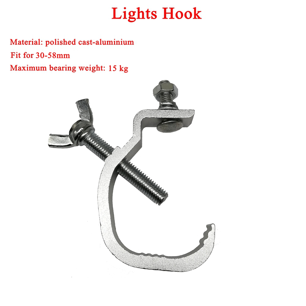 Dj Equipment Hanging Stage Light Hook For Max 15kg Moving Head Beam Light Clamp Aluminium Stage Truss Clamp Disco Dj Nightclub