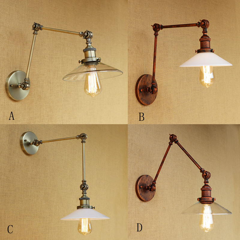 NEW design vintage Loft metal wall lamp glass LED bulb adjustable lampshade for living room bedroom restaurant bar E27 110v 795972 001 for hp prodesk 600 g1 sff desktop motherboard 696549 003 795972 501 lg1150 mainboard 100%tested fully work