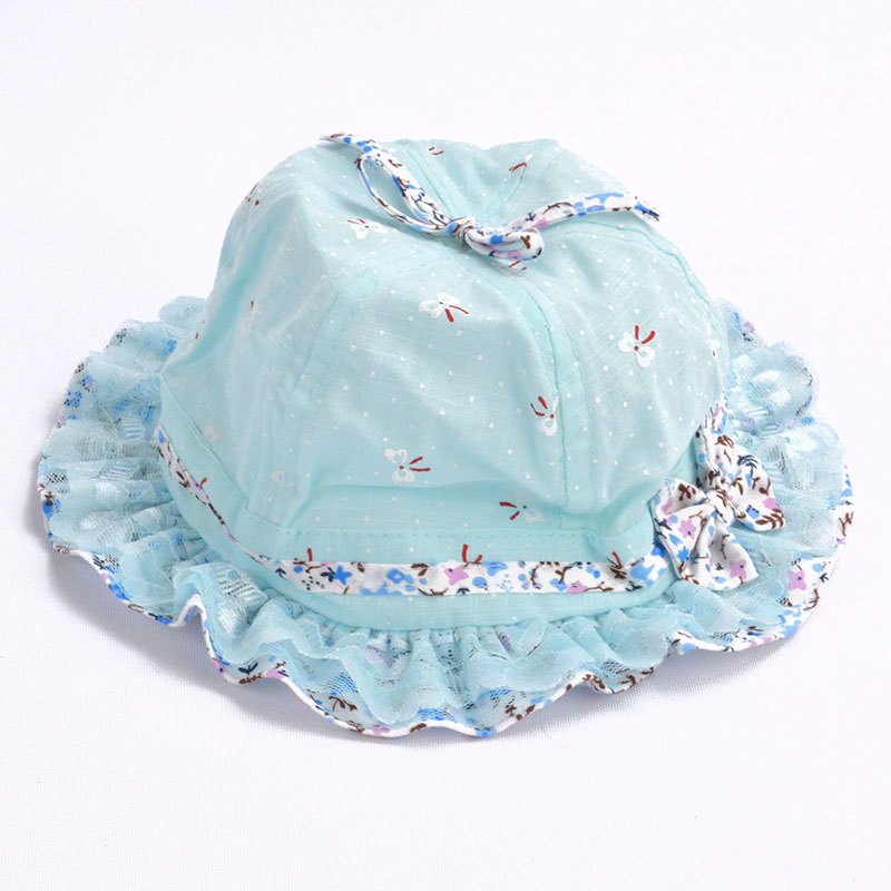 a86d7a9f9e1 Baby Summer Cotton Bucket Hat Baby Girl Princess Flower Lace Bow Sun Cap  Kids Outdoor Beach Caps-in Hats   Caps from Mother   Kids on Aliexpress.com  ...