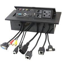 Горячая Распродажа K518 мультимедийный настольный HDMI AV VGA Соединительная коробка офисная Конференц-стол Розетка для Бразилии