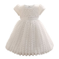 0 2 Years Birthday Baby Girl Dresses For Baptism Infant Snow White Princess Lace Christening Gown