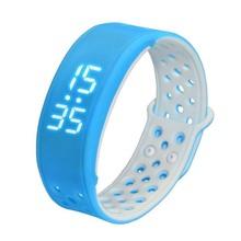 W9 Bluetooth V4.0 шаг счетчик активности на Водонепроницаемый IP67 спортивные Фитнес трекер Смарт-часы браслет, синий