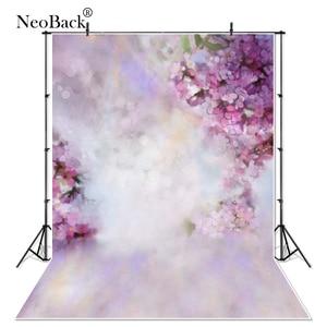 Image 1 - NeoBackฤดูใบไม้ผลิทารกแรกเกิดดอกไม้สีม่วงกลีบการถ่ายภาพฉากหลังเด็กPhotocall Photophone Studioภาพพื้นหลัง