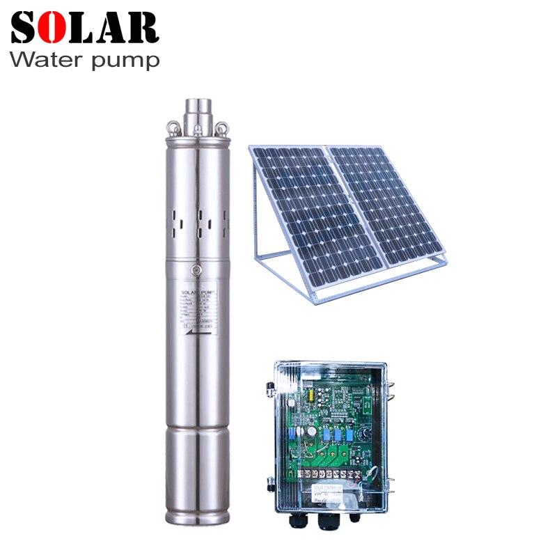 Solar powered portable 24v 1300L/h 50m head dc solar water pumps for irrigation submersible solar bore pumps australia