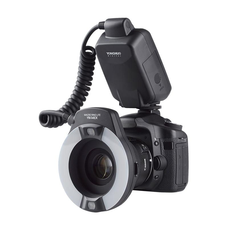 YongNuo YN-14EX TTL Macro Ring Lite Flash Light for Canon EOS DLSR Camera 5D Mark II 5D Mark III 6D 7D 60D 70D 700D 650D 600D yongnuo yn 14ex ttl macro ring flash speedlite light for canon 5d mark ii 5d mark iii 6d 7d 60d 70d 700d 650d 600d mr 14ex