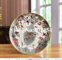צלחות קרמיקה סין עצם שטוח 8 inch אירופאי דפוס קריקטורה בעלי חיים צלחת צלחת ארוחת ערב שולחן פורצלן עוגת סלט מנות