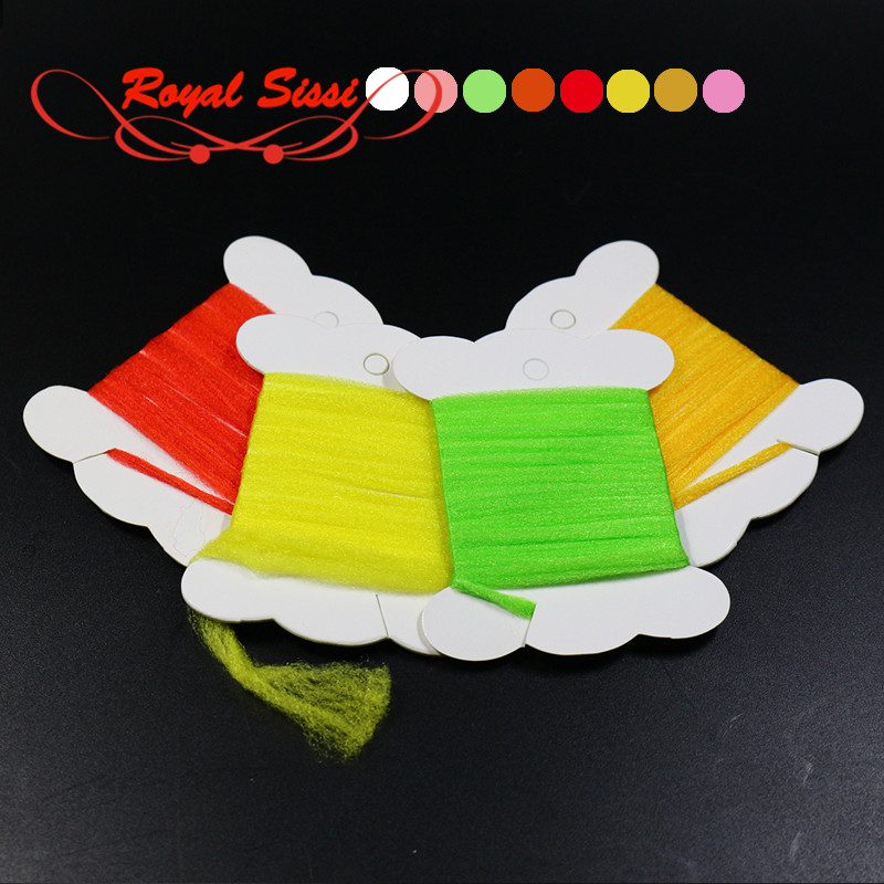 8 colors Polypropylene Floating Yarn Fly tying Material 1 yards per card super fine dry fly fibers for spinner wings parachutes card guides alpha 1 5 tab polypropylene 5 x 8 25 set