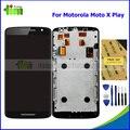 Оригинальный ЖК Замена для Motorola Moto X Play X3 XT1562 XT1563 ЖК-Дисплей С Сенсорным Экраном Дигитайзер + Рамка Ассамблеи + Инструменты