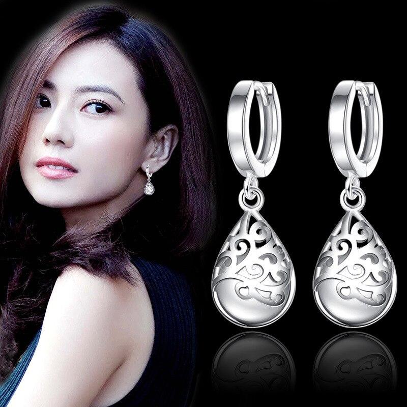 925 Sterling Silver Moonlight Opal Tears Totem Drop Earrings Gift Pendientes Oorbellen Boucle D'oreille Femmes