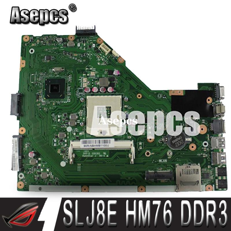 Asepcs X55C 2 GO RAM Carte Mère REV 2.2 Pour ASUS X55C X55VD X55V X55CR Ordinateur Portable Carte Mère SLJ8E HM76 DDR3 100% Testé