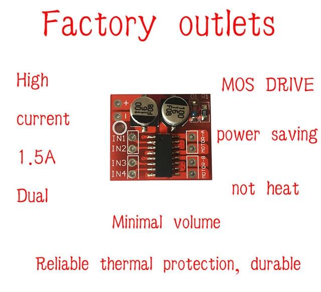 Dual DC motor driver module forward or reverse PWM speed control