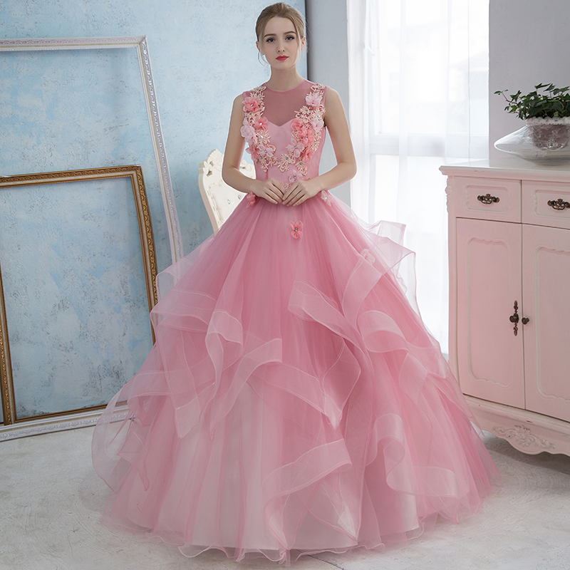 2019 year style- Pink light princess ball gown