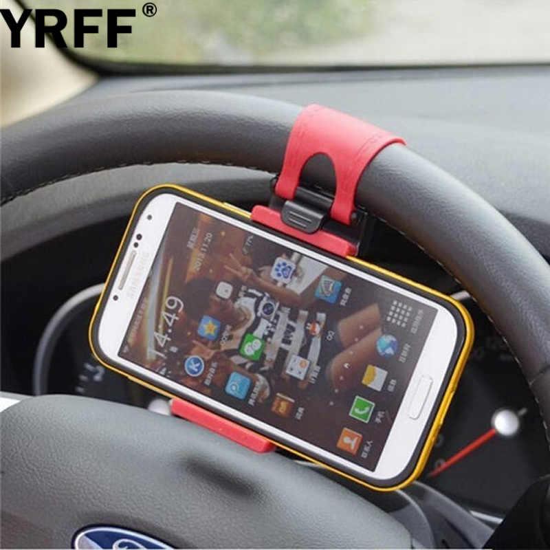 Universal Car Steering Wheel Holder Staffa Per iPhone5s 6 7 per Samsung Galaxy S4 S3 per xiaomi Mobile Phone Car Basamento Stent