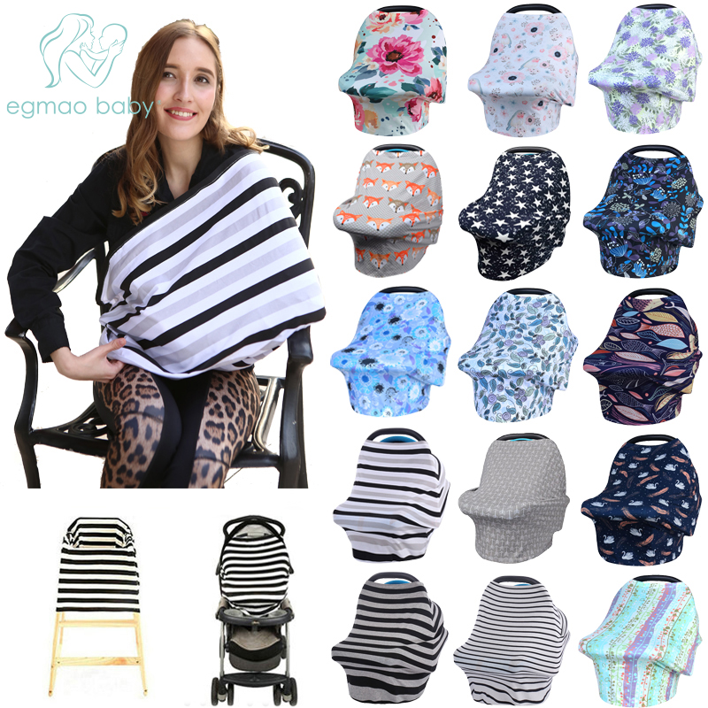 Baby Car Seat Cover, Unisex  Lightweight And Breathable Canopy, 100% Cotton , Fits Standard Newborn Carseats, Protecting Infants