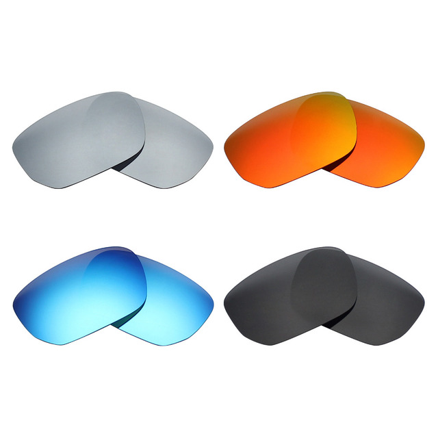 31b2e8b4d12 4 Pairs Mryok POLARIZED Replacement Lenses for Oakley Style Switch  Sunglasses Stealth Black   Ice Blue   Fire Red   Silver