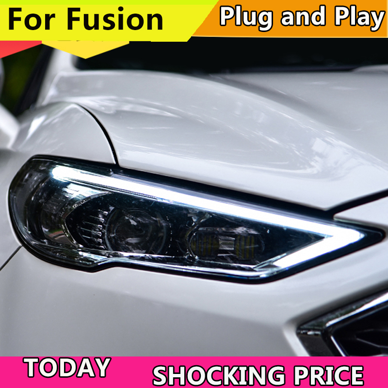 Car Styling Head Lamp for Ford Mondeo 2017 2018 Headlights for Fusion Headlight Dynamic steering DRL H7 D2H Hid Bi Xenon Beam-in Car Light Assembly from Automobiles & Motorcycles