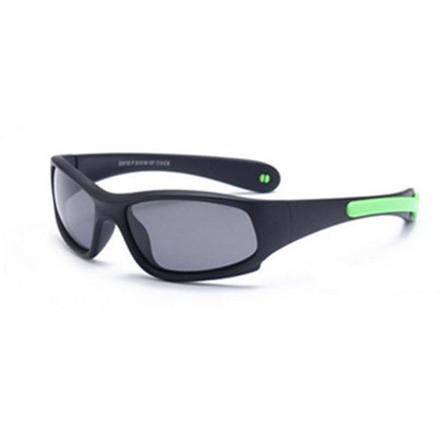 No easily broken Kids TR90 Polarized Sunglasses Children Safety Brand Glasses Flexible Rubber Oculos Infantil