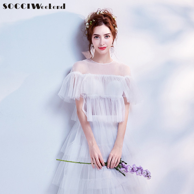 Socci weekend snow white wedding dresses 2018 off shoulder sweet socci weekend snow white wedding dresses 2018 off shoulder sweet fashion tulle brides gown china vestidos junglespirit Image collections