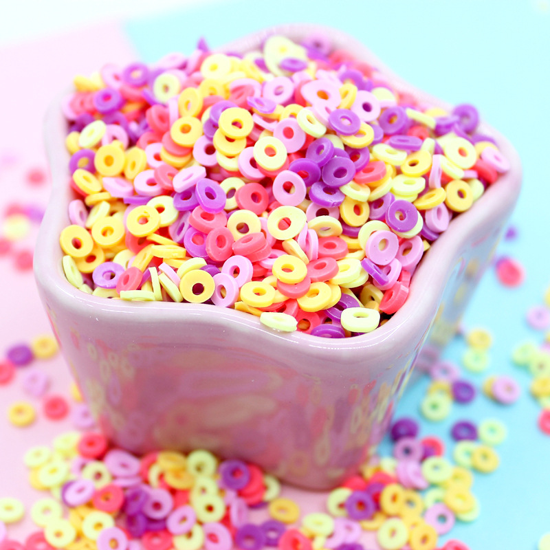 10g/Bag Hollow Fimo Slices Addition Charms For Fluffy Slime DIY Supplies Polymer Clear Clay Sprinkles Toys For Children Kids