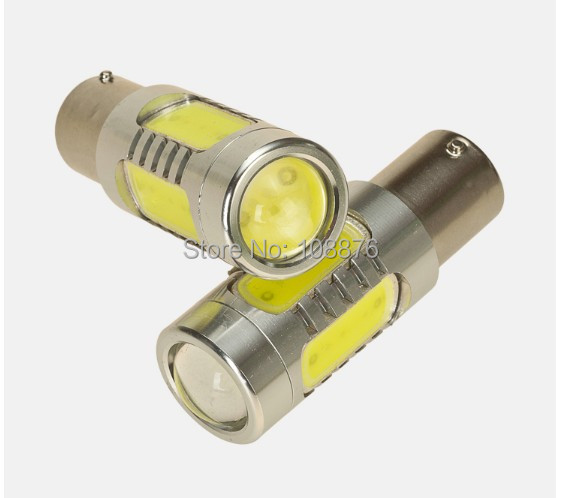 2 x BA15S/1156/P21W 15W power white led car reverse lights, yellow turn signal lights, red color brake lights