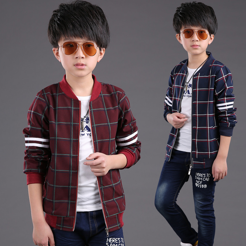 80da546a23c91 2019 New Children s Clothing Outerwear Boys Smart Casual Plaid Jacket Kid  Fashion Leisure Clothes Spring   Fall Trench Coat G727-in Jackets   Coats  from ...