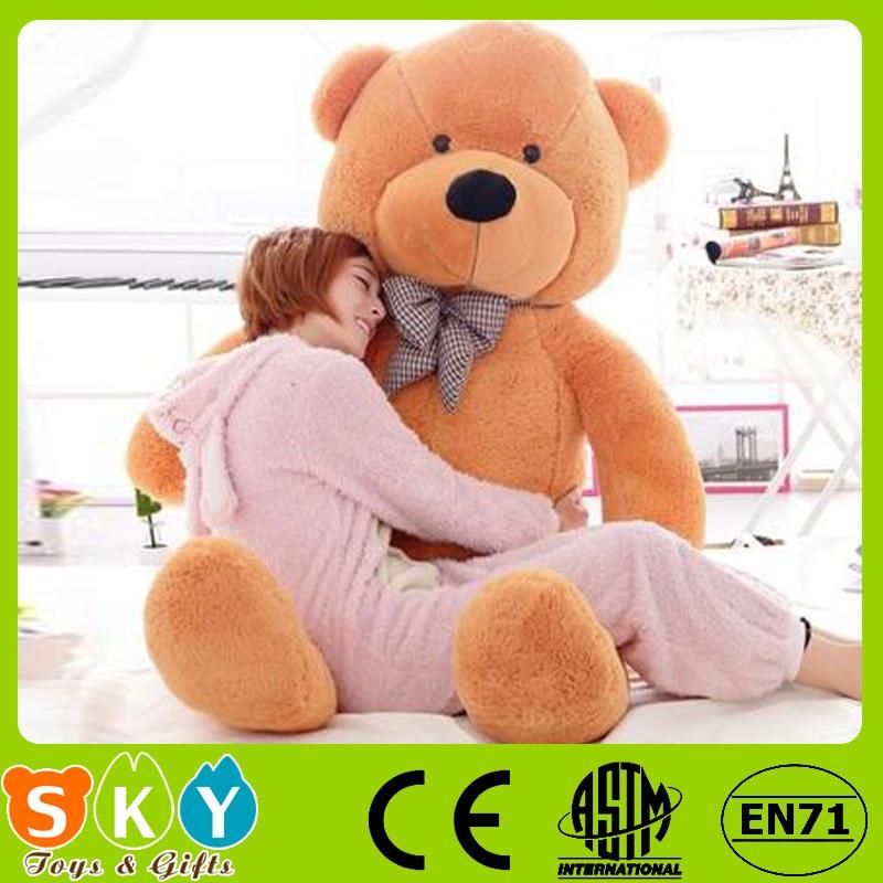 Géant 100 CM grand mignon brun en peluche ours en peluche énorme doux 100% PP coton jouet