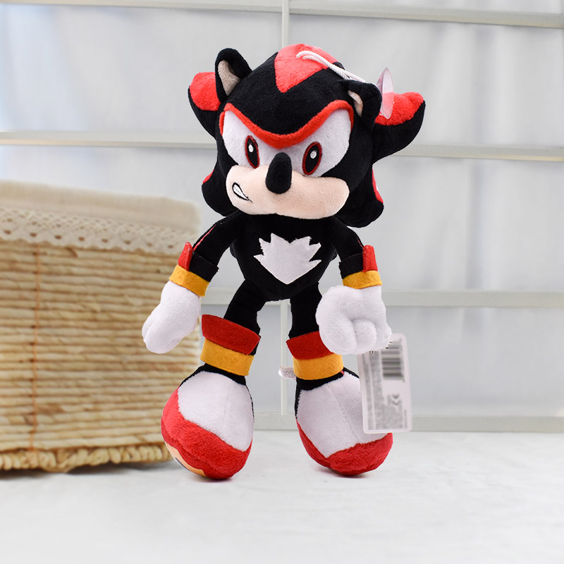 27cm Sonic Black Sonic Plush Toys Soft Stuffed Dolls Baby Peluche Toys Gift For Kids' Christmas Free Shipping цена 2017