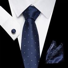 Joy alice 40 Color Polyester Silk Necktie Gravata Handkerchief Cufflinks Sets Paisley Floral Wedding Tie Set for Men Hanky