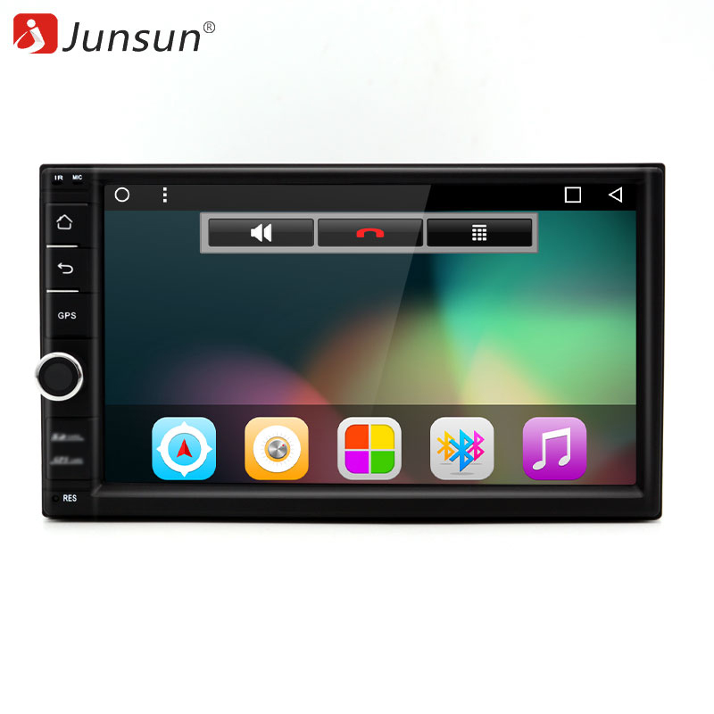 Junsun 7 2 Din Android Car DVD Radio Multimedia Play Universal For Nissan GPS Navi Headunit Radio Stereo Video Player(No DVD) black av in video cable 0 2meter 2 5mm stereo jack male plug to rca female adapter for gps converter 5pcs lot