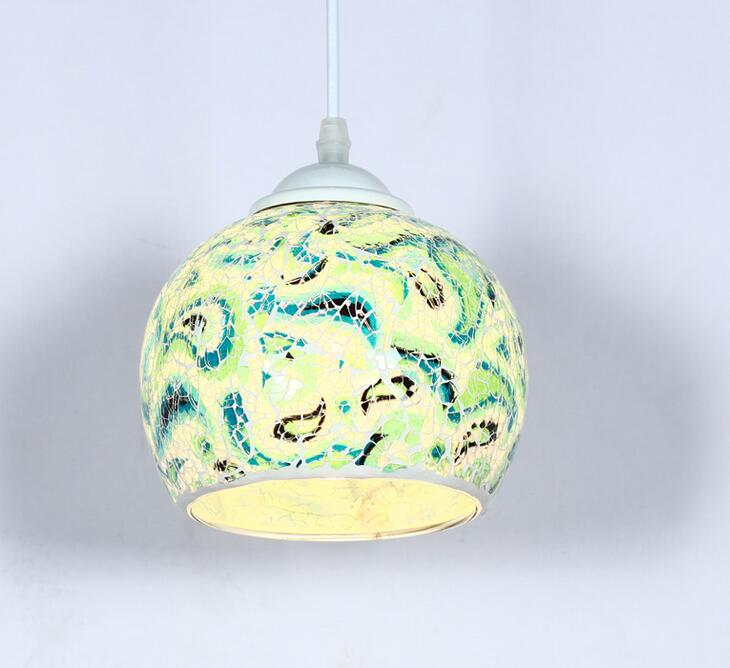 Tiffany Pastoral style single head Mediterranean small pendant light creative Cafe entrance corridors restaurant lamp DF107 the restaurant in front of the hotel cafe bar small aisle entrance hall creative pendant light mediterranean