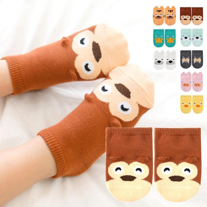 Cotton Anti Slip Baby Socks Newborn Infant Boys Girls Socks Cartoon Meias leg warmers For 0-4 Years Kids Floor Socks R4