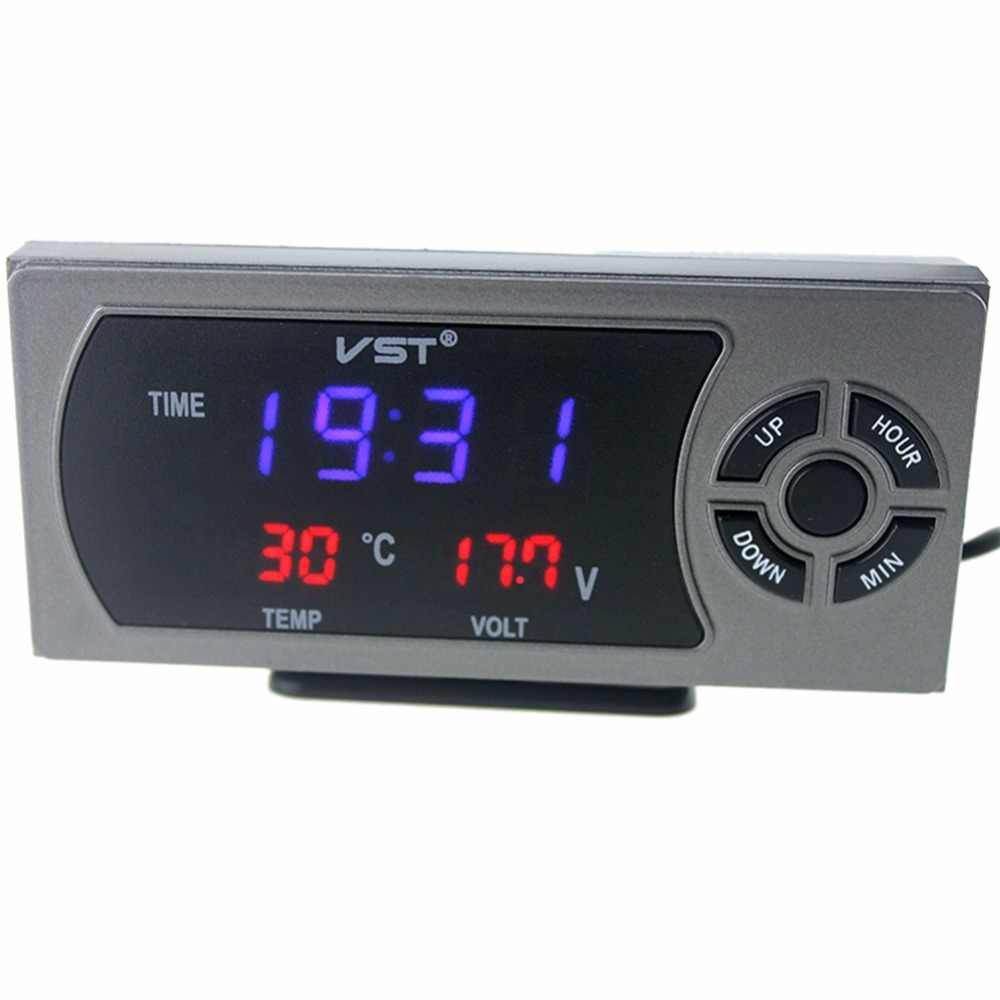 3 in 1 VST Car Termometro Temperature Voltage Meter Alarm Clock Thermometer  Voltmeter Auto Indoor Outdoor Digital car accessory