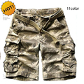 High Quality Summer Style Cotton camouflage Camo Tactical Military Shorts Men Multi Pocket Cargo Short Trousers Plus Size S-XXXL