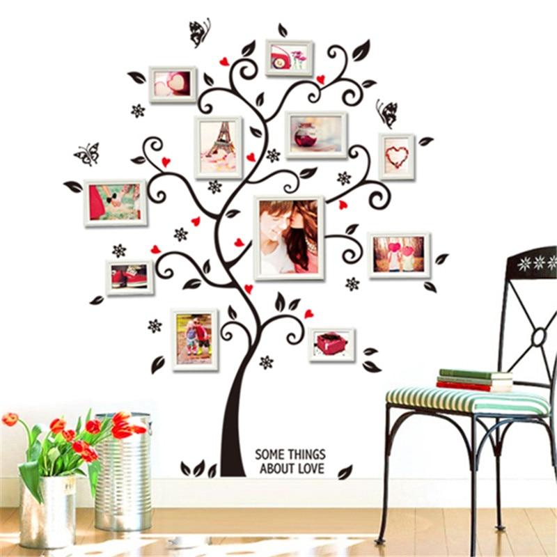 ᗔChic negro foto de familia Marcos Flor de mariposa del árbol del ...