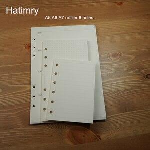 Hatimry A5 A6 A7 szie refiller caderno agenda book notebook paper refiller defter caderno escolar sketchbook school supplies