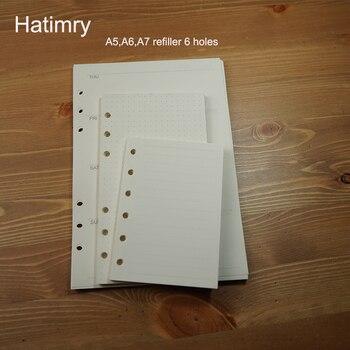 Hatimry A5 A6 A7 szie refiller caderno блокнот для записной книжки размораживающий бумажный блокнот для набросков для школы