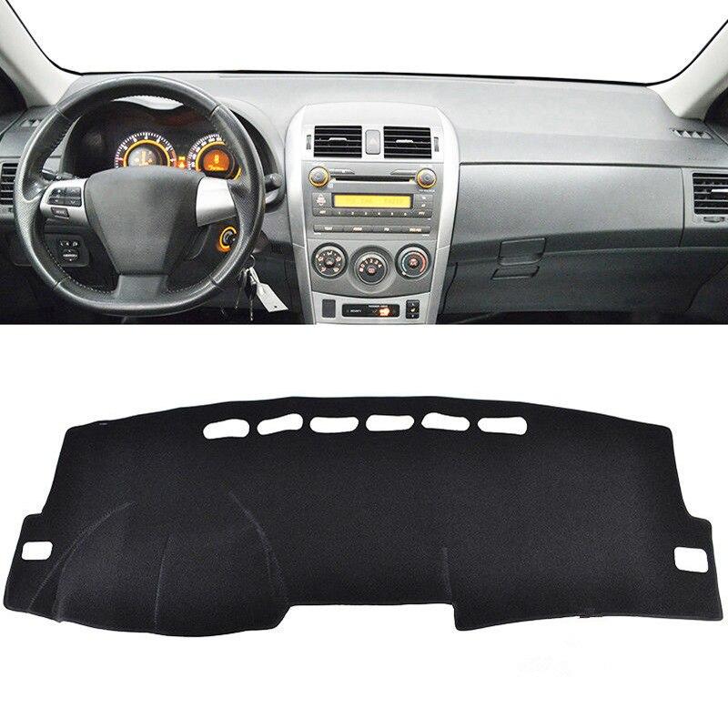 Car Styling Dashmat Dash Tapis Anti-UV Couvercle du tableau de Bord Pare-Soleil Instrument Tapis Pour Toyota Corolla E140 E150 2006-2013 LHD