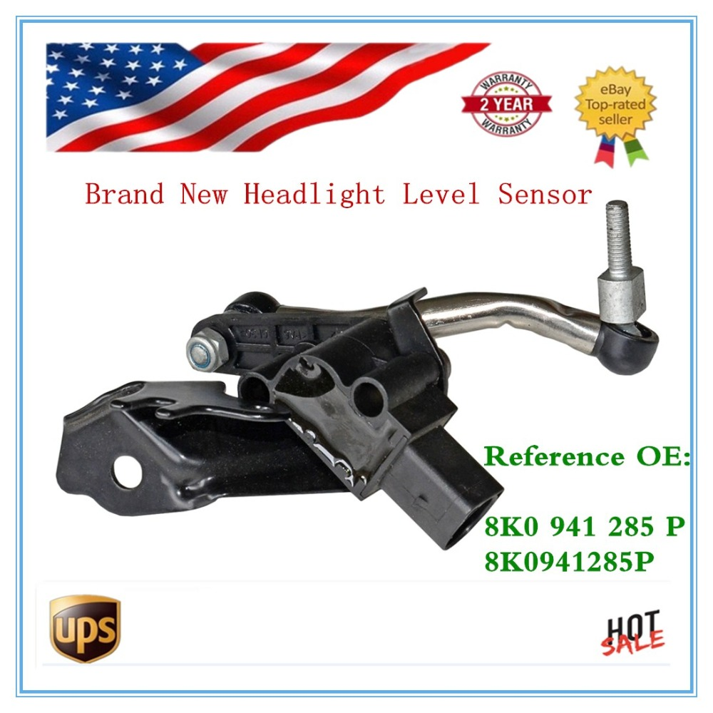 Headlight Level Sensor for Audi 2008-2015 A4 2.7 TDI A5 Quattro S4 S5 RS5 Allroad 2.0L control Xenon 8K0941285P 8K0 941 285 P 2x no errors xenon white 50w p13w c ree led bulbs drl for 2008 12 audi b8 model a4 or s4 with halogen headlight trims